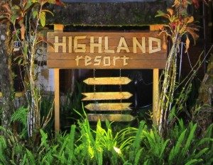 Highland Resort sign